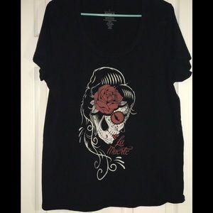 Torrid Scoop neck La Muerte T-shirt